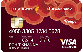 Jet Airways ICICI Bank Rubyx VISA Credit Card