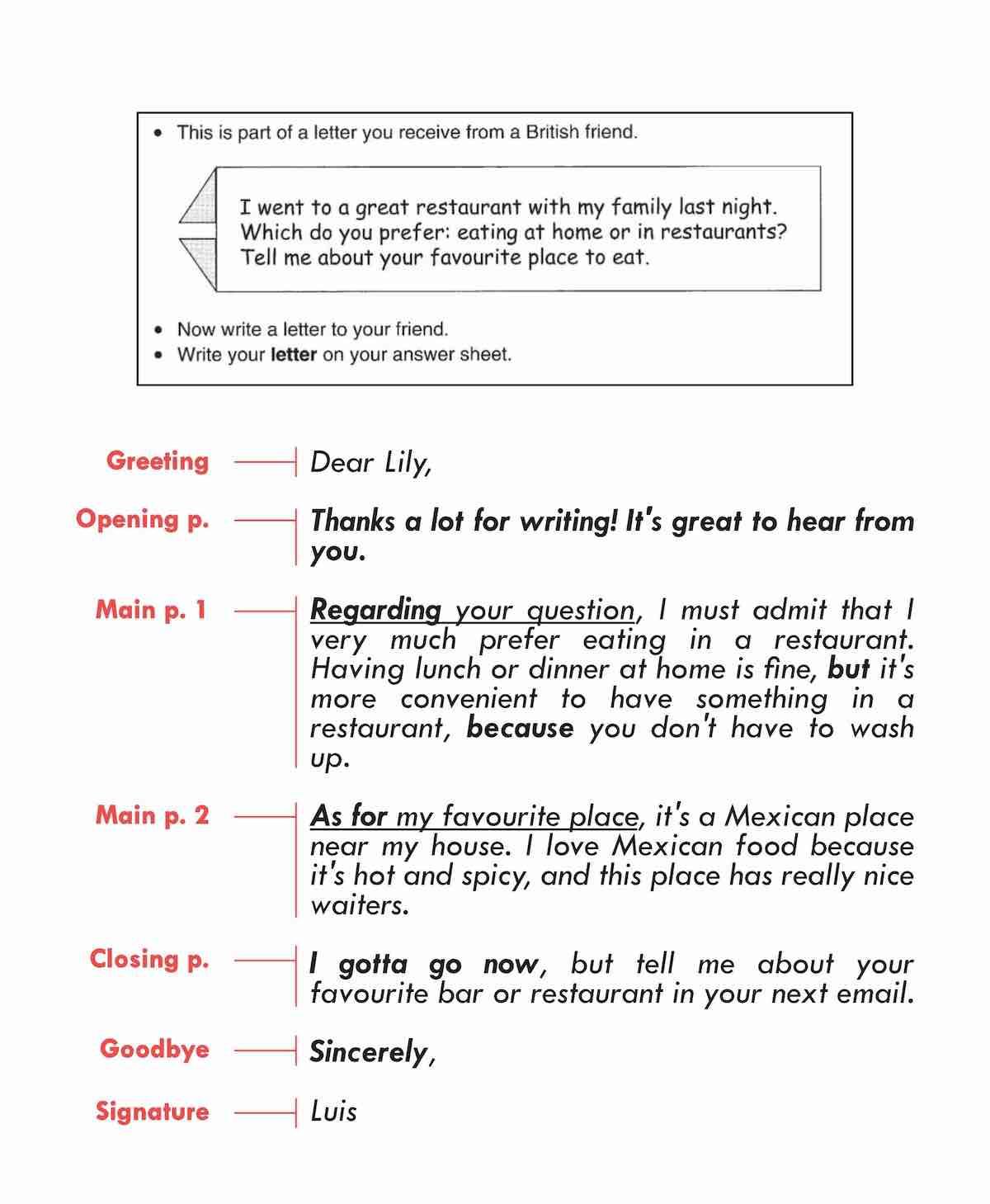 Writing Part 3 Preliminary (PET) Cambridge English
