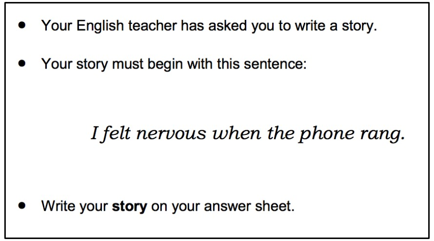 Cambridge English B1 Preliminary PET Writing Story task