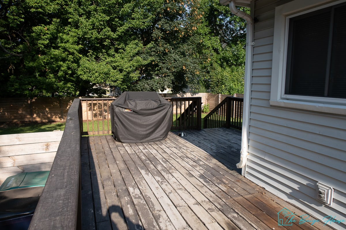 Painting Our Deck In Westcott Navy