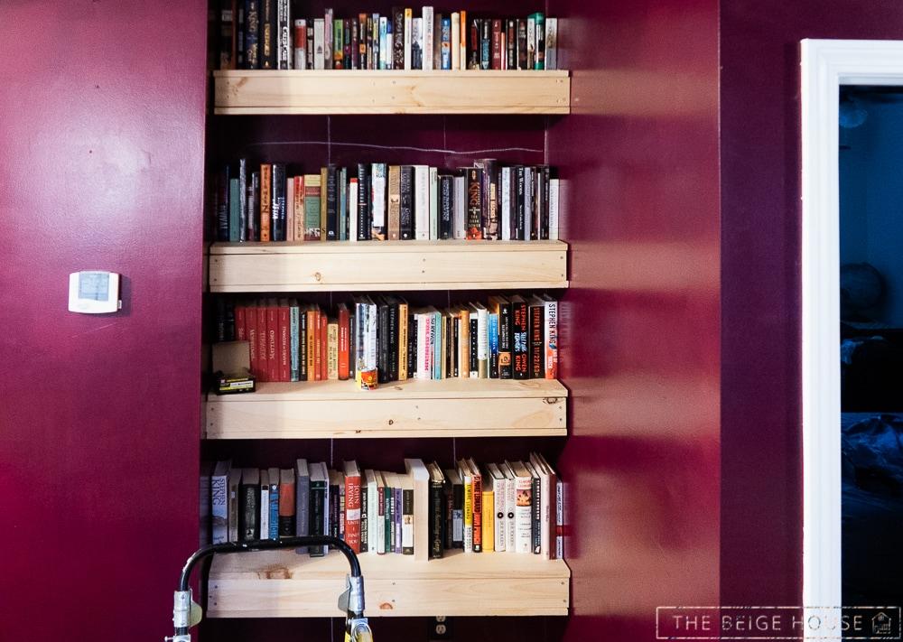 beige house living room shelves 17