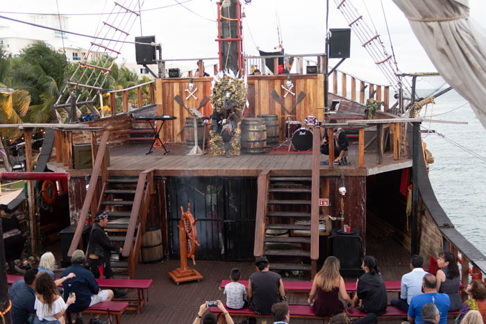 jolly roger pirate ship - Cancun Mexico Travel Diary