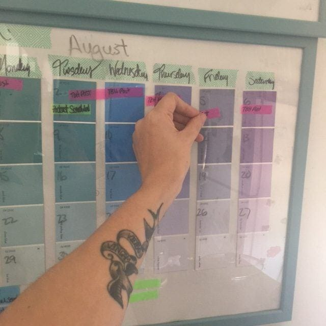 DIY Reusable Dry Erase Calendar
