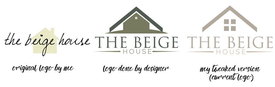 The Beige House logo evolution