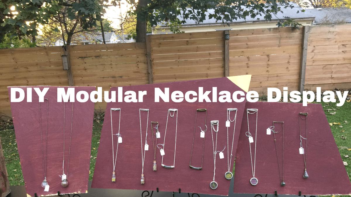 Diy Necklace Display Tutorial The
