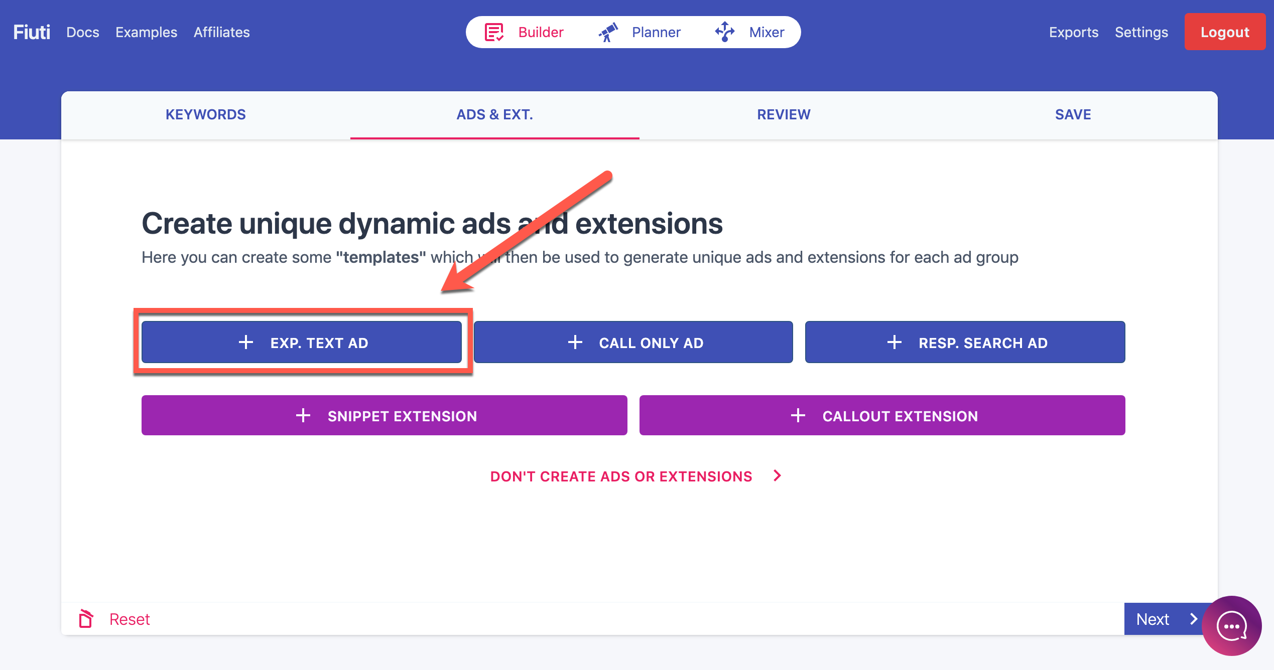 expanded text extentions for Google Ads campaigns