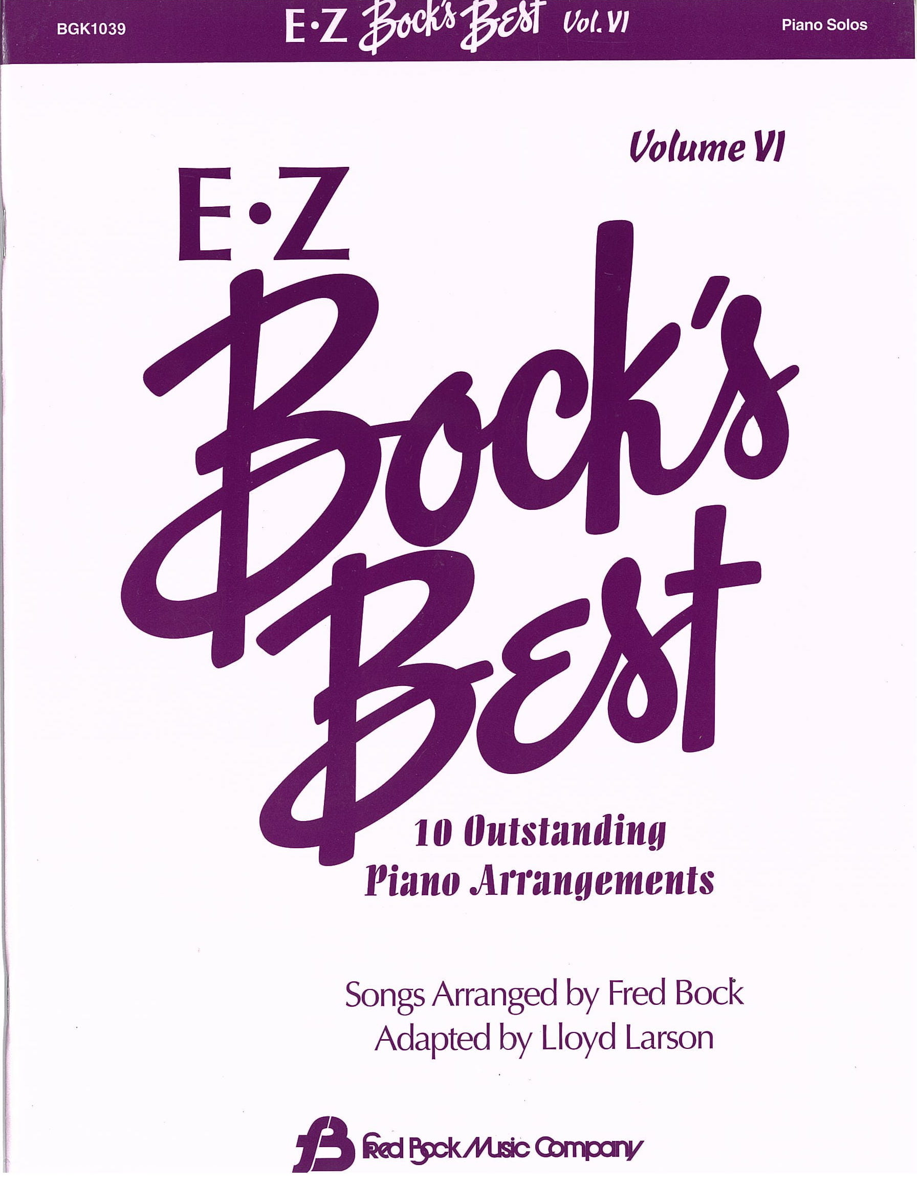 E Z Bock's Best    Volume 6