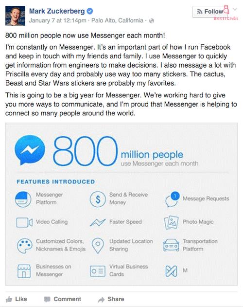 Messenger Statistics Mark Post