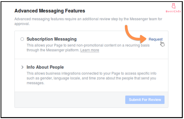 Subscription Messaging Request