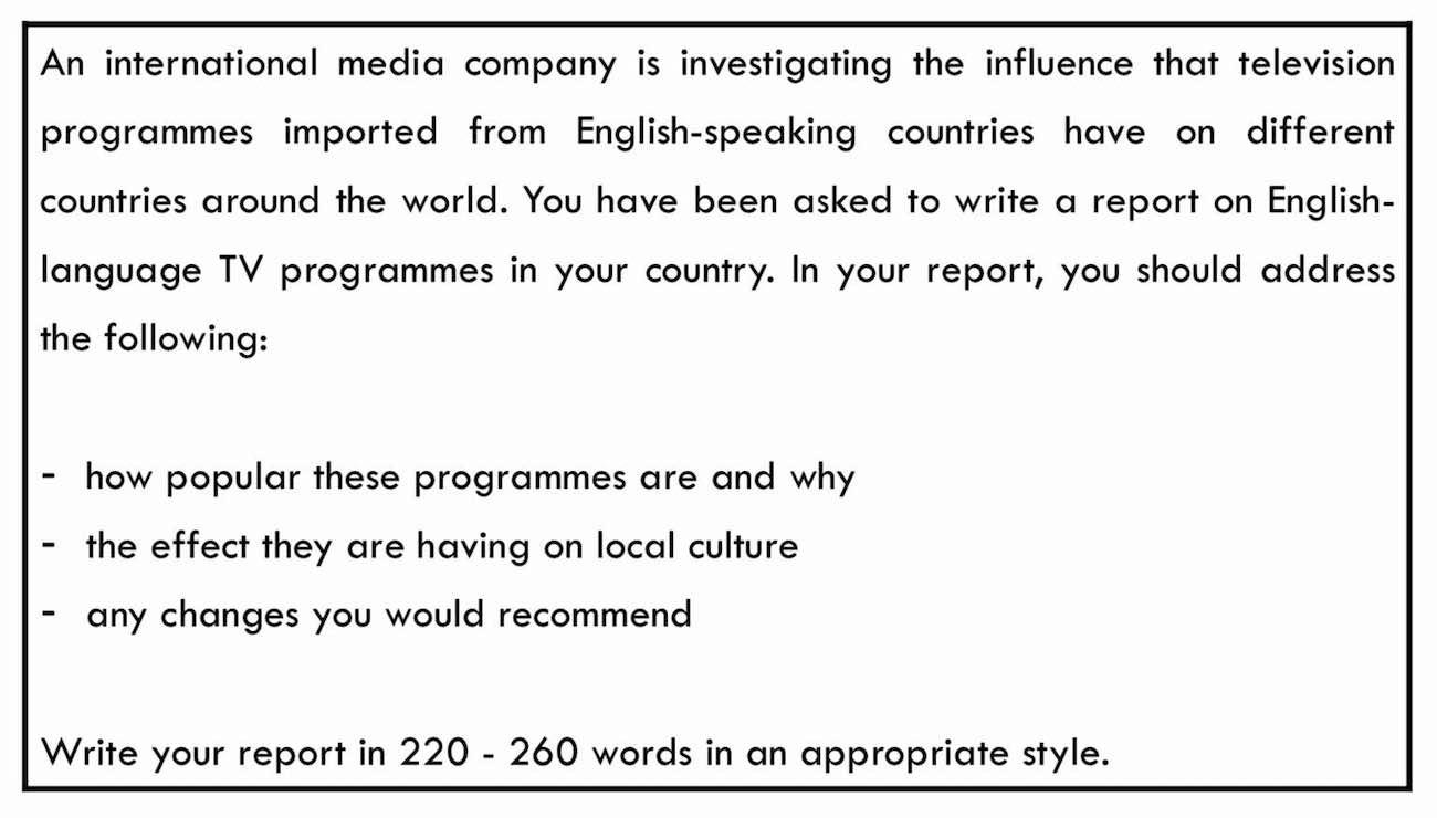 ejemplo de instrucciones de report de c1 advanced (cae) writing