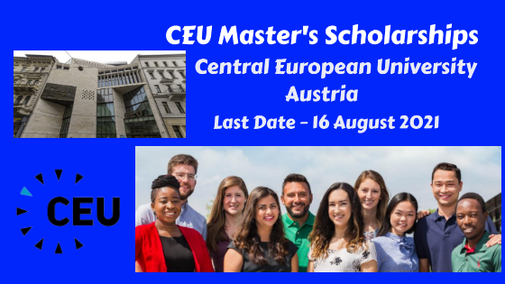 CEU Master's Scholarships at Central European University, Austria