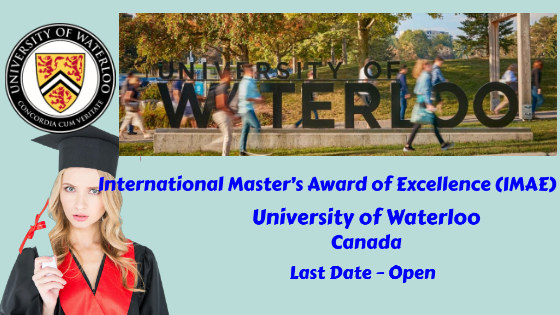 International Master's Award at The University of Waterloo, Canada