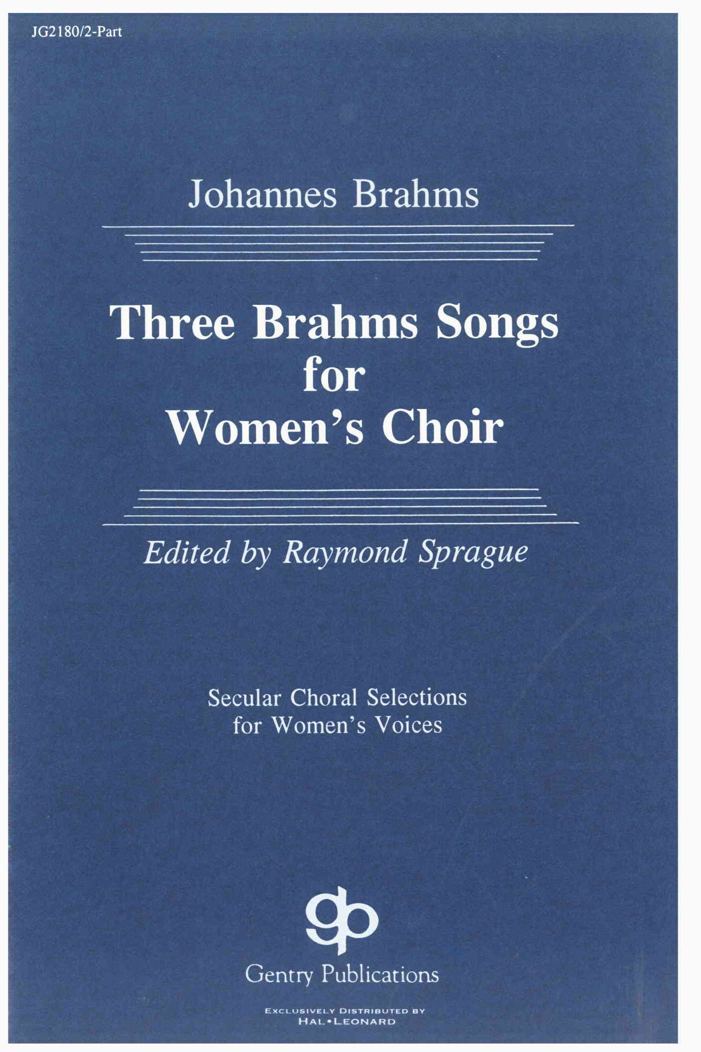 Three Brahms Songs For Women's Choir