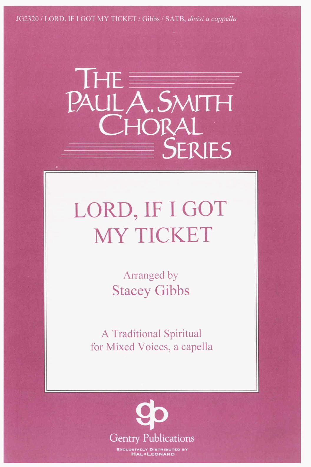 Lord, If I Got My Ticket