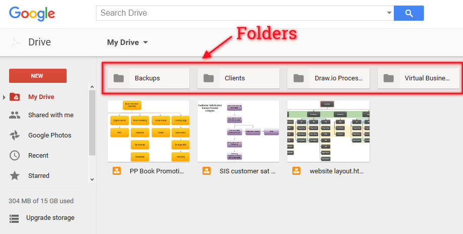 Google Drive Folders   Organising Works!