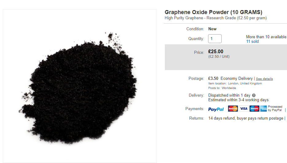 fake graphene powder