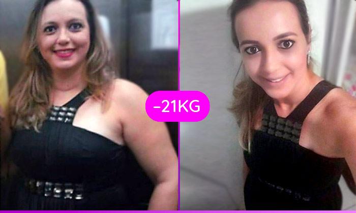 21 kg a menos em 4 meses – Érika Rocha