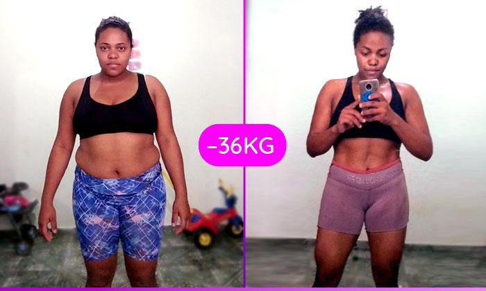 Emagreci 36 kgs para ser mãe – Mônica Alves
