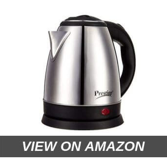 Pigeon by Stovekraft Shiny Steel 1.5-Litre Electric Kettle (Black)
