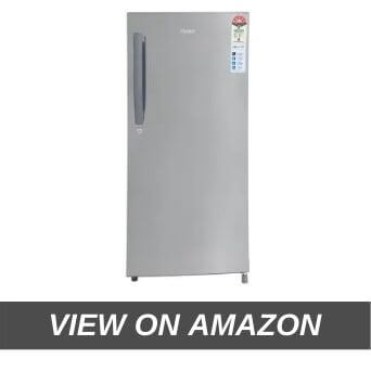 Haier 195 L 5 Star Direct Cool Single Door Refrigerator (HRD-1955CSS-E, Shiny Steel)