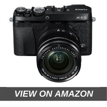 "Fujifilm X-E3 24.3 MP Mirrorless Camera with XF 18-55 mm Lens (APS-C X-Trans CMOS III Sensor, X-Processor Pro Engine, EVF, 3"" LCD Touchscreen, Phase Detection AF, 4K Video, Film Simulations) - Black"