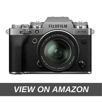 "Fujifilm X-T4 26 MP Mirrorless Camera Body with XF16-80mm Lens(APS-C X-Trans CMOS 4 Sensor, EVF, Face/Eye AF, IBIS, 3"" Touchscreen, 4K/60P & FHD/240P Video, Film Simulation, Weather Resistance)- Silver"