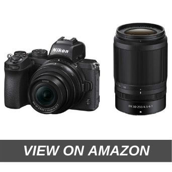 Nikon Z50 Mirrorless Camera Body with NIKKOR Z DX 16-50mm f/3.5-6.3 VR & NIKKOR Z DX 50-250mm f/4.5-6.3 VR Lens