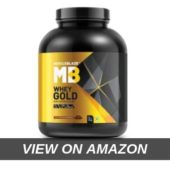 MuscleBlaze Whey Gold 100_ Whey Protein Isolate, 2 kg 4.4 lb (Rich Milk Chocolate)