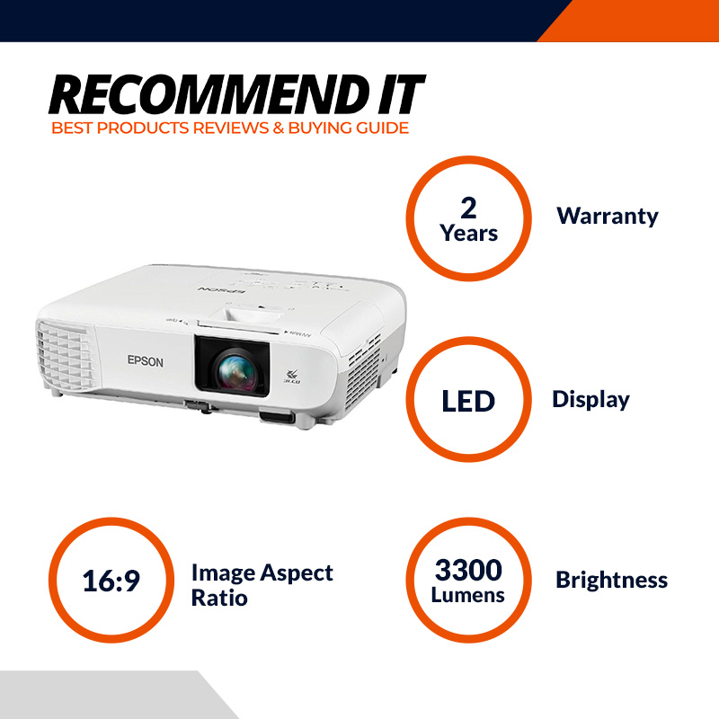 Epson EB-S41 SVGA Projector Brightness 3300m with HDMI Port