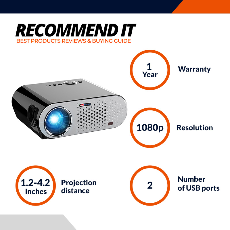 Vivibright GP90UP Android _ WIFI Portable Projector LED LCD 3200 Lumens 1280 800 Support 1080P