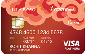 Jet Airways ICICI Bank Coral VISA Credit Card
