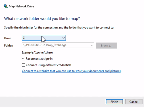 Tips:Mapping Network drive