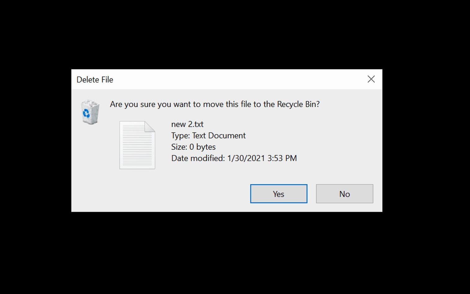 Set Windows Ask before Del
