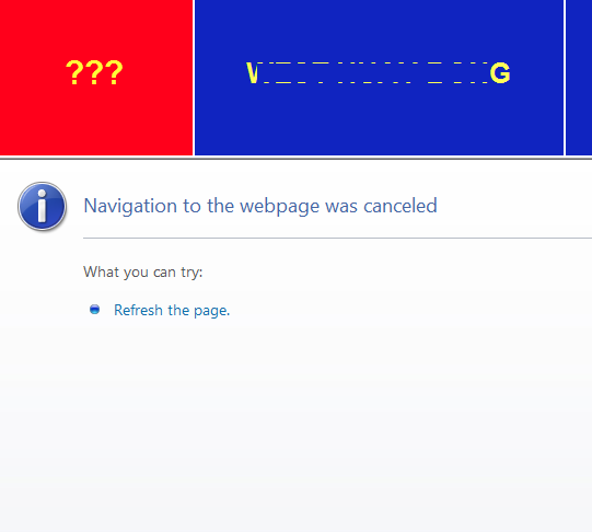 TEC-Elipse ; Navigate to webpage to cancled