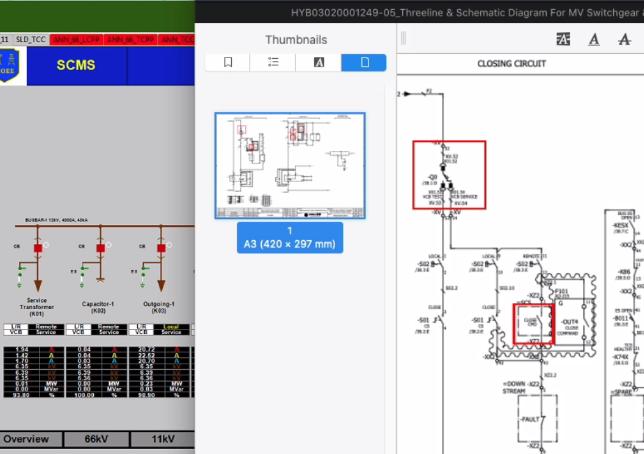 Control IED not success because hardwire interlock