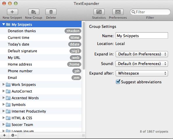 Text Expander