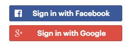 ورود با Facebook و Google