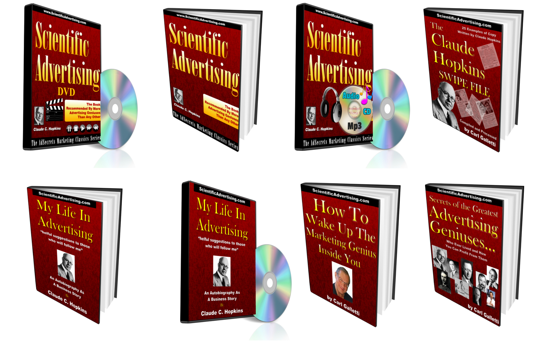 Scientific Advertising Library Volume 1 eBook Covers