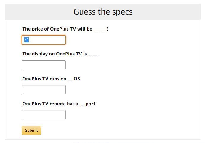 Oneplus Tv Quiz