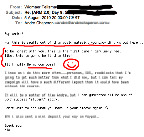 Autoresponder Madness 2 customer testimonial - Widmaer.