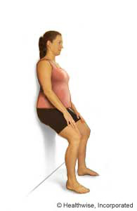 Picture of the wall sit exercise