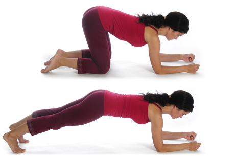 Picture of how to do the front plank exercise