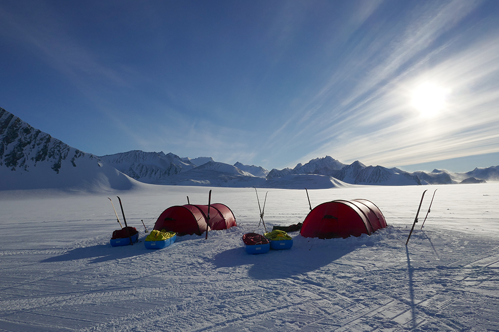 Base camp at Union Glacier Antarctica. Photo | Scott Kress