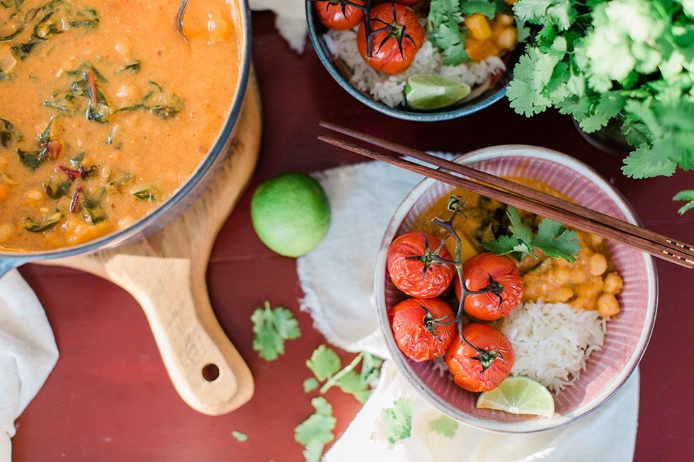 Butternut Squash Curry with Blistered Tomatoes