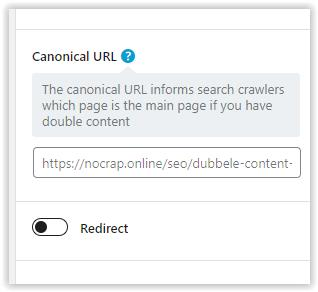 Canonical URL in RankMath