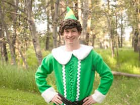 Boy XMAS elf is great for Santa line management at parties in Calgary