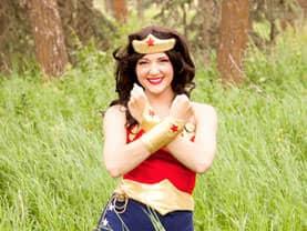 Woman of Wonder crosses her arms in defense of Calgary crime
