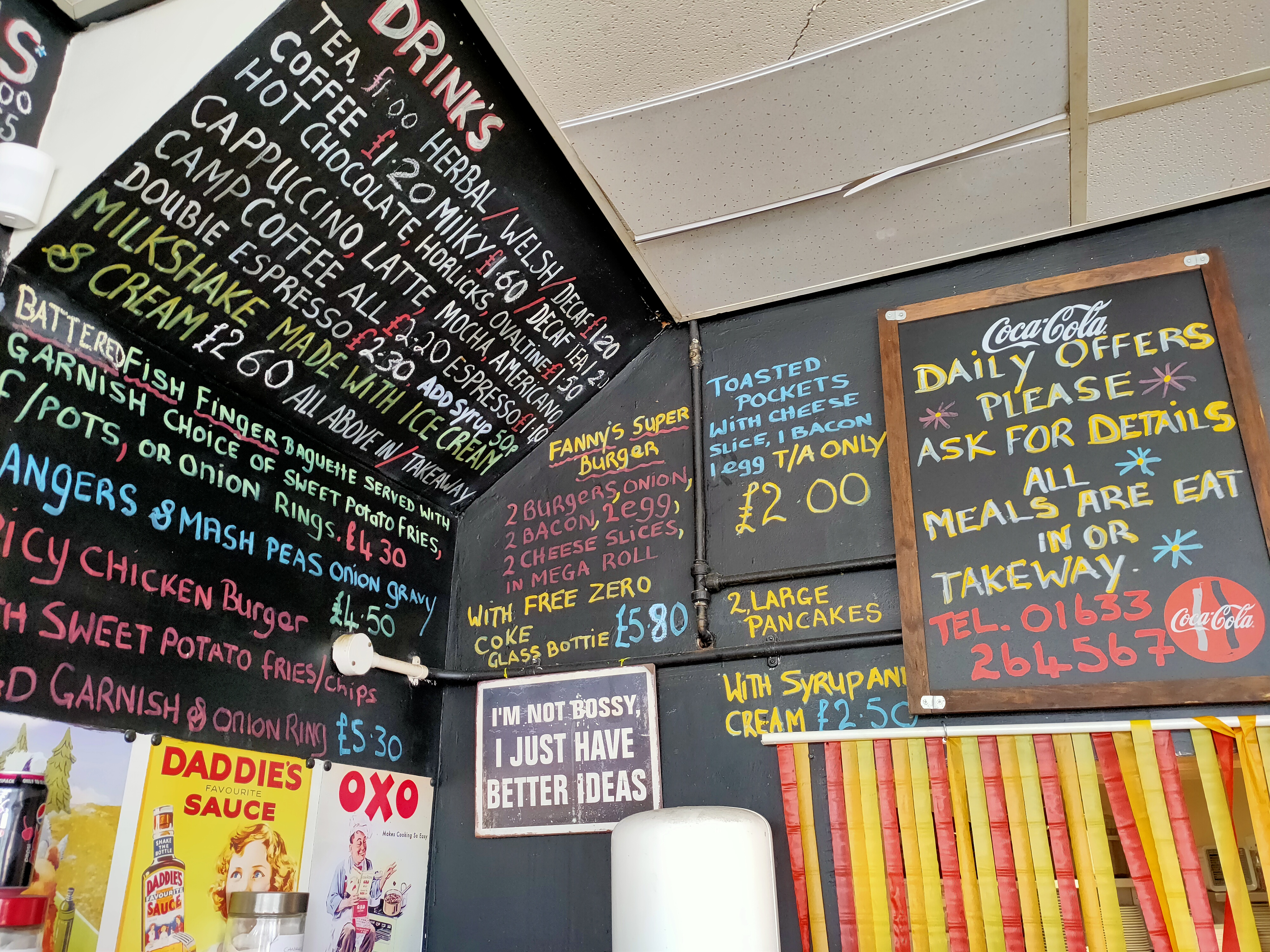 Fannys cafe menu 2