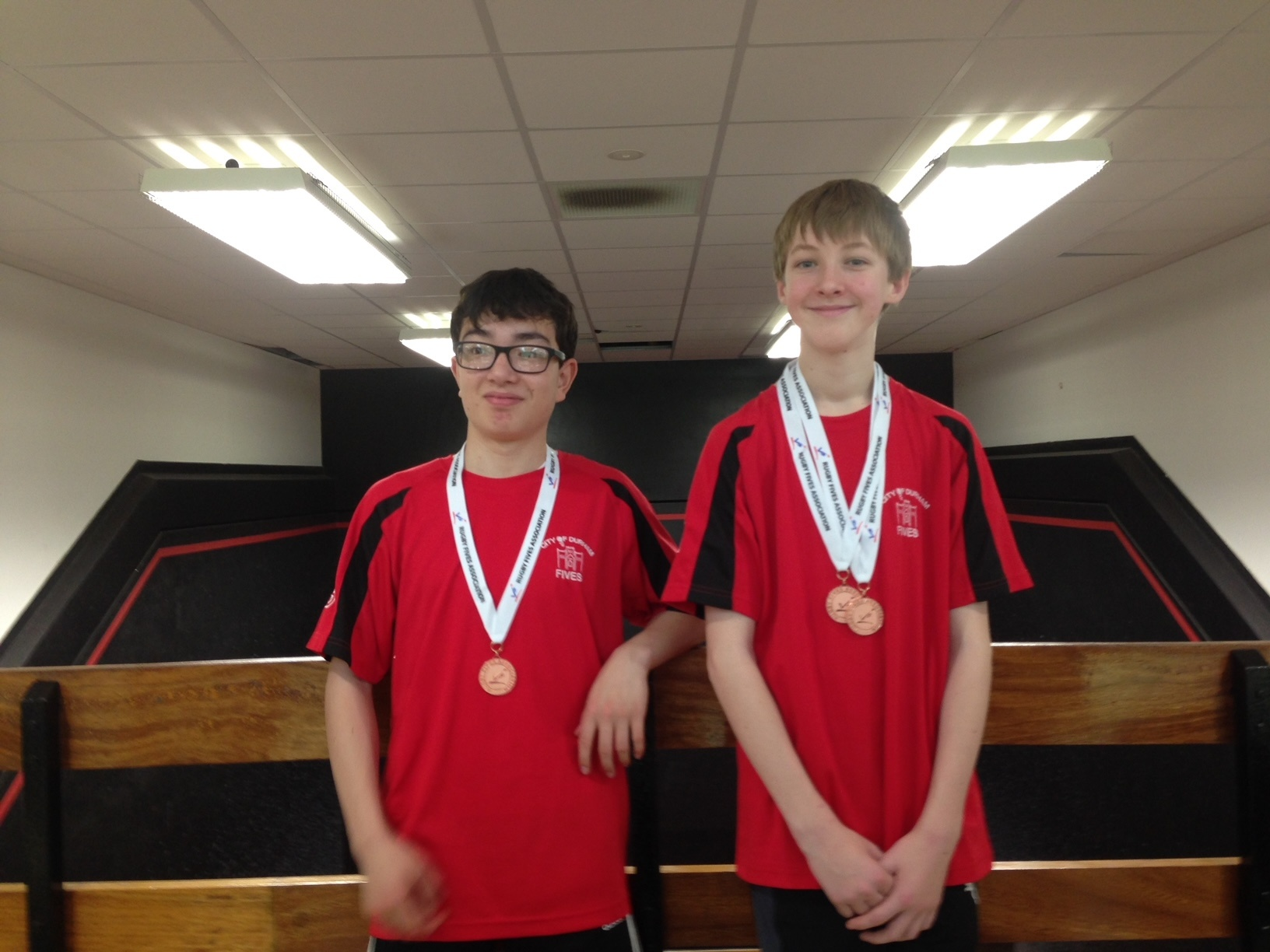 National Schools Championship doubles winners