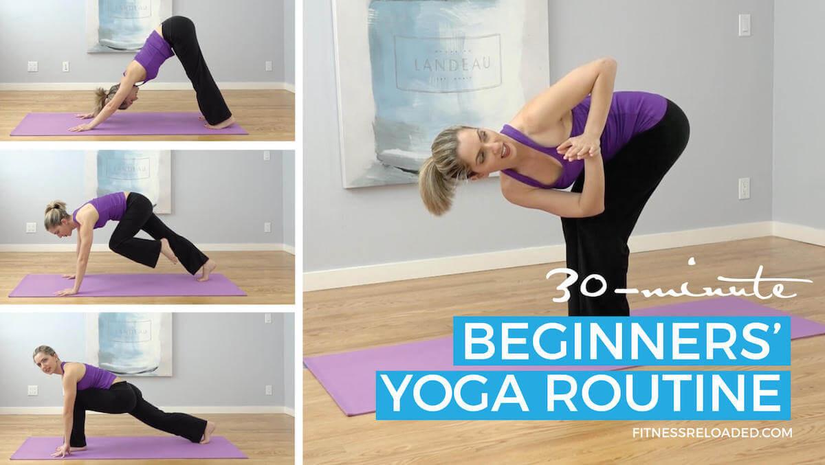 beginners' yoga routine